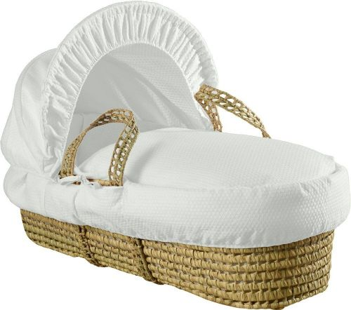 Palm Moses Basket - Cotton Dream White